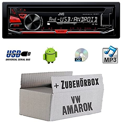 VW Amarok - JVC KD r471e - Kit de montage autoradio CD/MP3/USB -