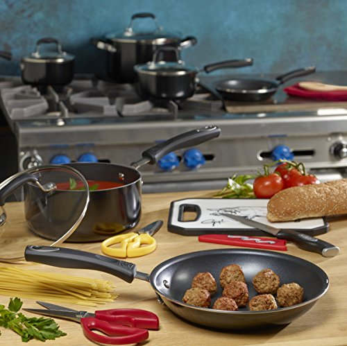 Guy Fieri 10-Piece Nonstick Cookware Set, Black