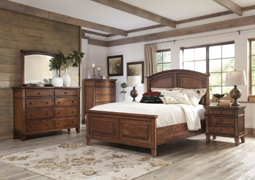 Trend Ashley Burkesville Panel Bedroom Set in Burnished Brown