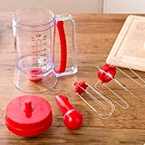 """Manual Pancake Batter Dispenser Cupcake Baking Essentials Cake Batter"" shopping"