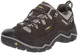 KEEN Men\'s Durand Low WP Shoe, Raven/Neutral Gray, 11 M US