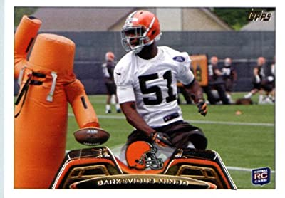 2013 Topps NFL Football Card # 282 Barkevious Mingo Rookie Card Cleveland Browns