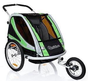 fahrradanh nger sportrex gr n kinder buggy anh nger qeridoo joggerbuggy baby. Black Bedroom Furniture Sets. Home Design Ideas