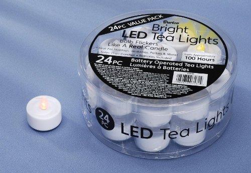 White Led Tea Lights: 24 Piece Value Pack