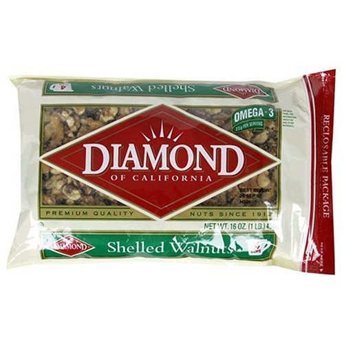 Buy Diamond Shelled Walnuts, 16-Ounce Bags (Pack of 6) (Diamond Nuts, Health & Personal Care, Products, Food & Snacks, Baking Supplies, Nuts & Seeds)