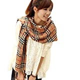 Atdoshop(TM) Mode Damen Herren Plaid Classics Checkered Langer Schal Soft-Wrap-Schal-Stola (beige)