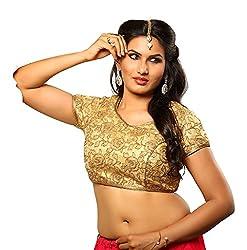 Melluha Velvet Gota Stitched Customizable Blouse with Cotton Inner