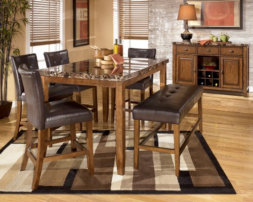 Buy Low Price Signature Design by Ashley Lacey Rectangular Counter Height Dinette Set (D328-32)