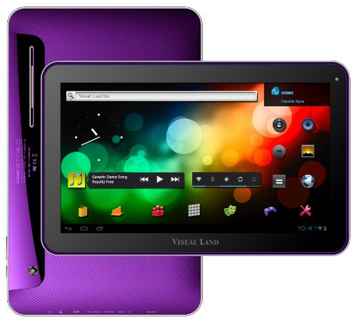 Visual Land Superiority 10-Inch Tablet with 16GB Memory (Purple)