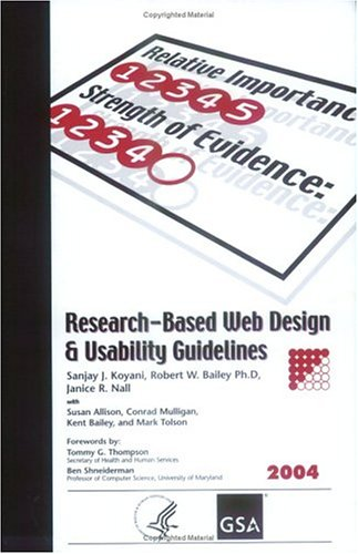 Research-Based Web Design &amp; Usability Guidelines