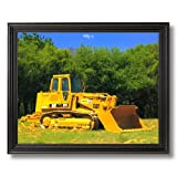 Caterpillar Cat 973 Track Truck Loader Home Decor Wall Picture Black Framed Art Print