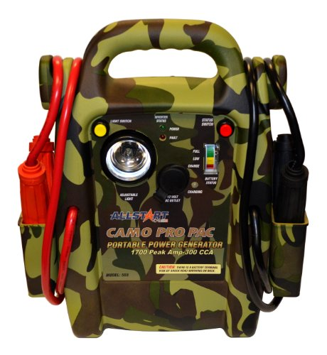 Allstart 555 Camo Pro Pac Battery Jump Starter with AC Inverter