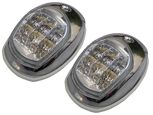 Marine 12V LED Navigation Light Stainless Steel - Side Lights for Boat (Pair Set) - Five Oceans BC 2890 (Bow Running Lights compare prices)
