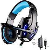 Mictech G9000 Stereo Gaming Headphone Headset 7.1 Surround Sound Headset With Mic Volume Control For Pc Game