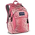 JanSport Wasabi Backpack (Pink Prep/Coral Sparkle Flashback Zebra)