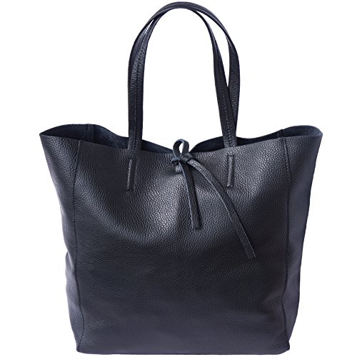 SHOPPING BAG CON LACCETTO IN PELLE 9121 (Nero)