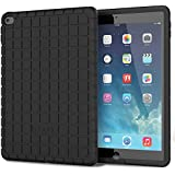 iPad Air 2 Case - Poetic Apple iPad Air 2 Case [GraphGrip Series] - Protective Silicone Skin Case for Apple iPad Air 2 (2014) Black (3-Year Manufacturer Warranty From Poetic)