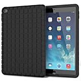 iPad Air 2 Case - Poetic iPad Air 2 Case [GraphGRIP Series] - [Lightweight] [GRIP] Protective Silicone Case for Apple iPad Air 2 Black (3 Year Manufacturer Warranty From Poetic)