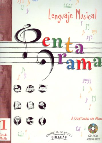 CUSTODIO J. - Pentagrama Lenguaje Musical 1º Grado Medio (Inc.CD)