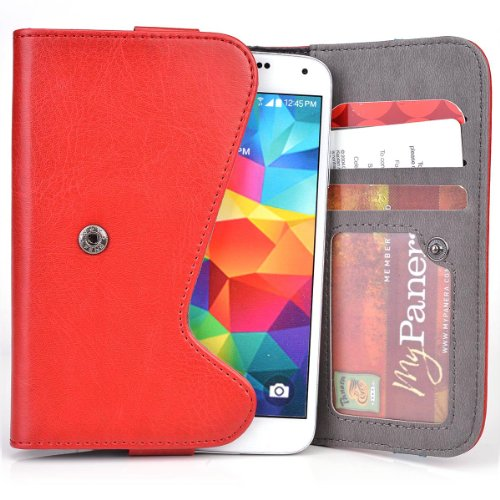 5 Inch Phone Wallet Case with Belt Loop and Money Holder fits BLU Advance 4.0 Mobile (Blue Advance Forros compare prices)