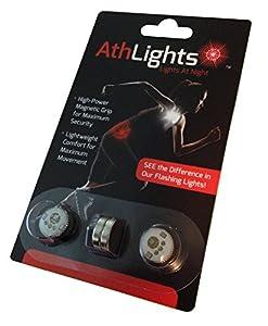 athlights magnetic flashing safety lights for running walking a. Black Bedroom Furniture Sets. Home Design Ideas