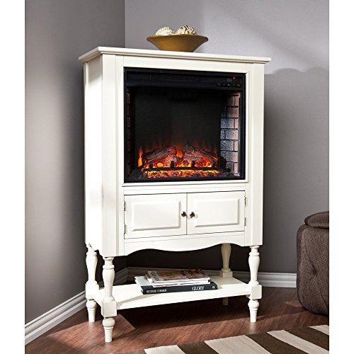 Southern Enterprises Southern Enterprises Catalyne Vertical Console Fireplace - White, Wood