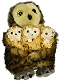 The Puppet Company - Hide Away Puppets - Tawny Owl with 3 Babies Hand Puppet Hand Puppet