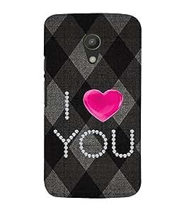 EPICCASE love blocks Mobile Back Case Cover For Moto G 2nd Gen (Designer Case)