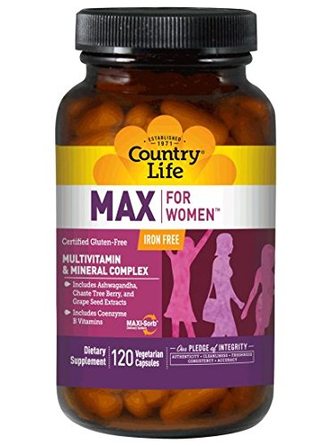 Country Life Maxine for Women Iron-free, 120-Count