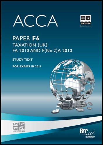 ACCA - F6 - Taxation FA 2010 (Study Text)
