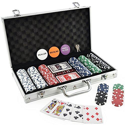 KOVOT 300 Chip Dice Style Poker Set In Aluminum Case (11.5 Gram Chips)