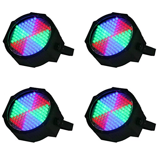 Yiscor Stage Lighting Led Par Light 127Leds Rgb Dmx512 For Home Garden Party Wedding Dj Disco Club Effect (Pack Of 4)