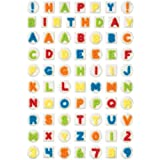 Alphabet and Number Icing Decorator Cut-Outs, 3-Pack
