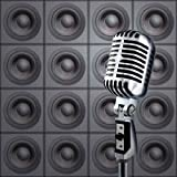 Content Wall Decals Mike&speakers - 30 inches x 30 inches - Peel and Stick Removable Graphic