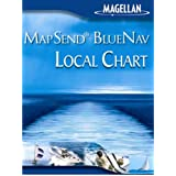 Magellan MapSend BlueNav Local Chart New Haven and Sandy Hook Freshwater Map microSD Card