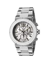 Invicta Women's 0166 Reserve Collection Chronograph Stainless and White Rubber Watch