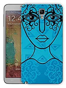 "Humor Gang Blue Line Woman Printed Designer Mobile Back Cover For ""Samsung Galaxy Note 3"" (3D, Matte, Premium Quality Snap On Case)"