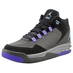 Nike Jordan Kids Jordan Flight Origin 2 BG Blk/Lgn-DarkGry/Brght Cncrd Basketball Shoe 4.5 Kids US