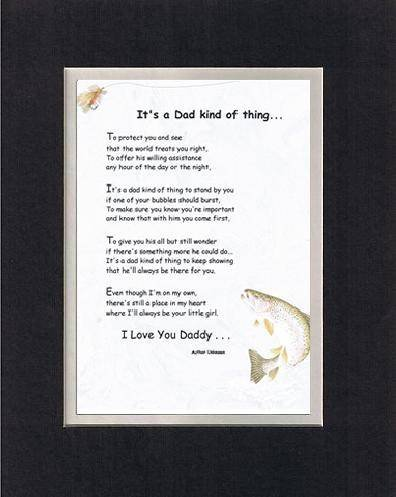 Touching and Heartfelt Poem for Fathers (From Daughter) - It's a Dad Kind of Thing Poem on 11 x 14 inches Double Beveled Matting (Always Your Little Girl Frame compare prices)
