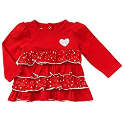 Heart Sequin Tiered Baby / Toddler Girls\' Tunic Blouse (3-6 Months)