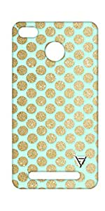 Vogueshell Golden Dots Printed Symmetry PRO Series Hard Back Case for Xiaomi Redmi 3S Prime