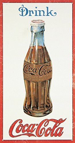 Coca Cola Coke 1915 Bottle Retro Vintage Tin Sign