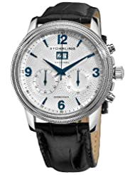 Stuhrling Original Men's 286.33152 Boardroom Mercury Mechanical Chronograph Date Silvertone Watch