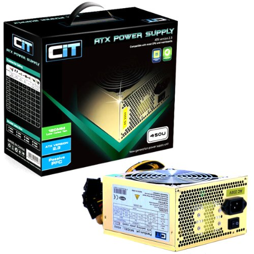 Best Price For CIT 450w Gold 12CM Silent Atx Power Supply - Computer ...