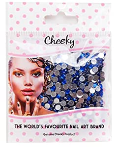Pack de 1000 Strass Nail Art Cristal 4mm Dos Plat Pierres Bijoux couleur Bleu par VAGA®