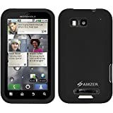 Amzer Silicone Skin Jelly Case for Motorola DEFY MB525 - Black