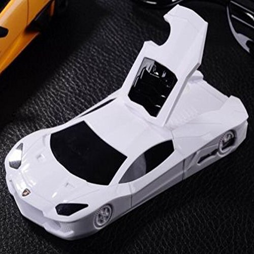WwWSuppliers New 3D Luxury Fast Race Car Case for Apple iPhone 4 4G 4S Stand Protective Hard Cover + Screen Protector (White) (Cool Case Iphone 4s compare prices)