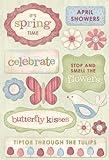Karen Foster Design Acid and Lignin Free Scrapbooking Sticker Sheet, Celebrate Spring