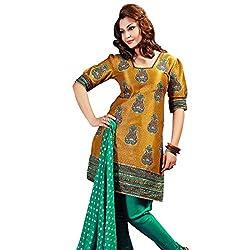 Silk India Women's Vol.7 All Time Hits Dress Material (182_Mustard Art)