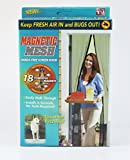Magic Mesh (WHITE) Hands-Free Screen Door with magnets AS SEEN ON TV